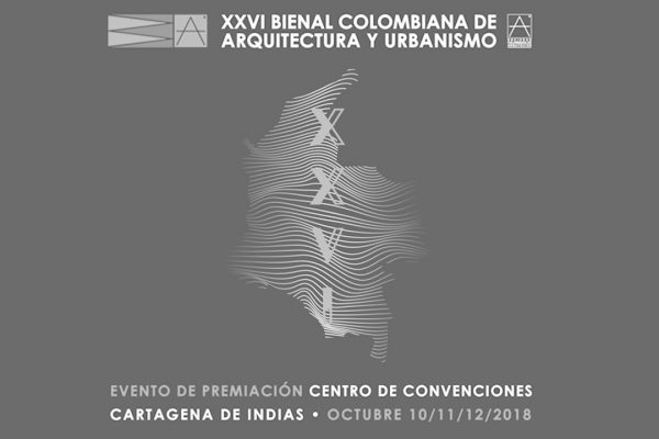 XXVI Bienal Colombiana de Arquitectura y Urbanismo. Conference + Exhibition. Oct 10th – Oct 12th, 2018.. Convention Center Julio Cesar Turbay Ayala, Cartagena, Colombia. Sociedad Colombiana de Arquitectos.