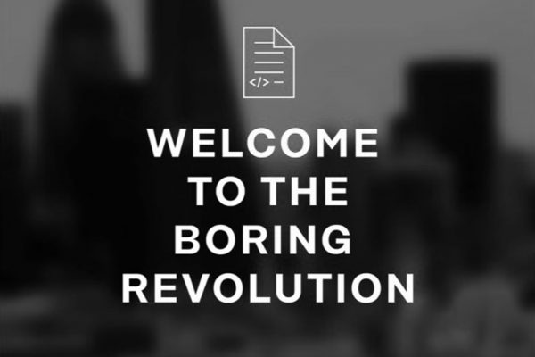 Welcome to the boring Revolution. Seminar. Nov 13th, 2018. Dark Matter Labs. 33 First Floor Back. The AA. London UK.